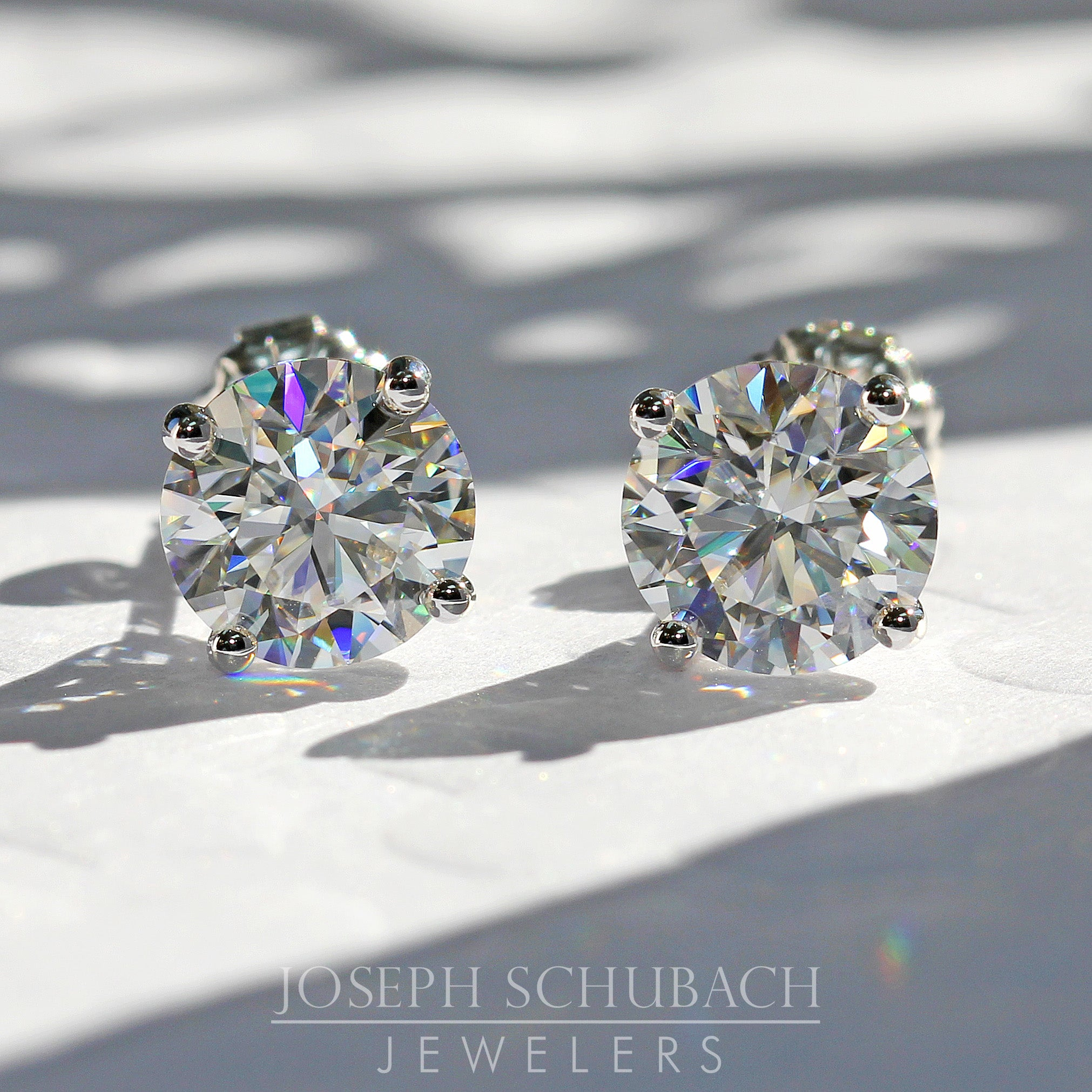 3 Prong Martini Stud Earrings (Style 9435)