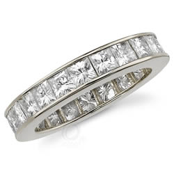 Style 9433: Channel Set Princess Cut Anniversary Band