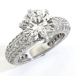 Style 10469: Hand Made Pave Diamond Engagement Ring