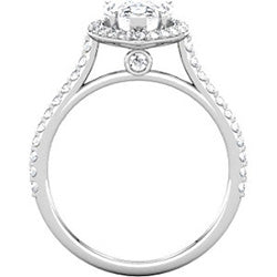 Pear Shaped Halo Engagement Ring with Diamonds (Style 102239-10x7mm)