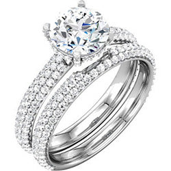 Style 102228: Four Prong Engagement Ring With Diamonds