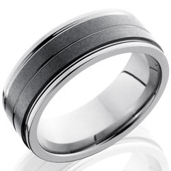 Style 103860: Ceramic and Tungsten 8mm Flat Band