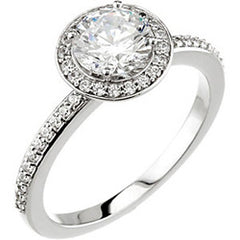 Style 102288: Round Halo Engagement Ring With Diamonds