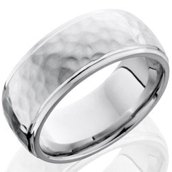 Style 103780: Cobalt Chrome 9mm Domed Band with Grooved Edges