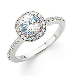Style 102287-7.5mm: Round Halo Engagement Ring With Diamonds