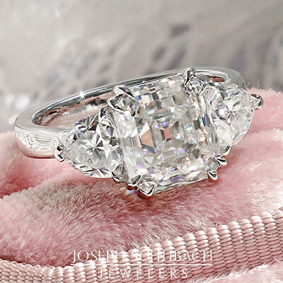 Casablanca Custom Made Three Stone Ring - Setting
