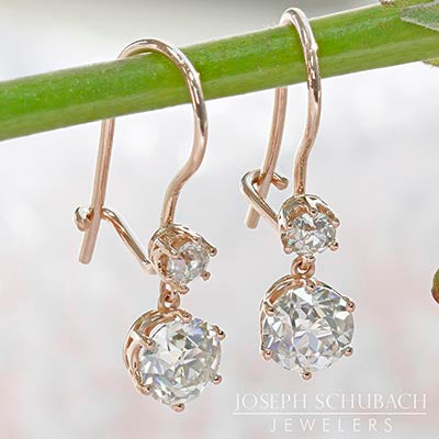 Style 103389: Vintage Inspired Dangle Earrings with Shepherd Hooks