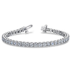 Style 438M: Classic Prong Set Round Moissanite Tennis Bracelet