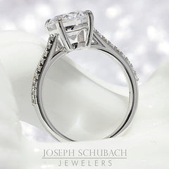 Style 103386: Lucia Cathedral Engagement Ring with Diamond Band