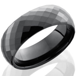 Style 103797: Ceramic 6mm Domed Band with Beveled Edges and Facets