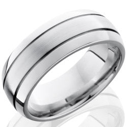 Style 103720: Cobalt Chrome 8mm Domed Band