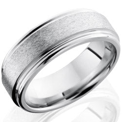 Style 103763: Cobalt Chrome 8mm Flat Band with Rounded Edges