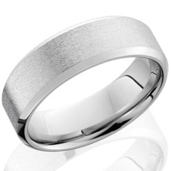 Style 103989: Cobalt Chrome 7mm Beveled Band