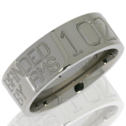 Style 103565: Titanium 8mm Flat Band with Duck Band Engraving