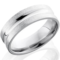 Style 103668: Cobalt Chrome 7mm Concave Band