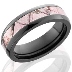 Style 103950: Zirconium 6mm Domed Band with 3mm of Pink Realtree AP Camo