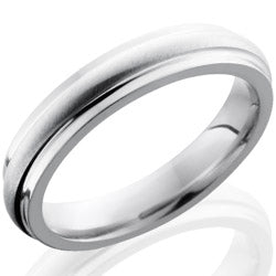 Style 103636: Cobalt Chrome 4mm Domed Band with Grooved Edges