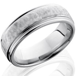 Style 103690: Cobalt Chrome 7mm Flat Band with Rounded Edges