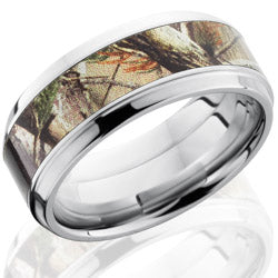 Style 103793: Cobalt Chrome 9mm Beveled Band with 5mm of Realtree AP Camo