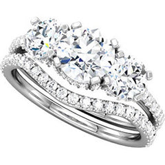 Style 102250: Round Three Stone Diamond Ring