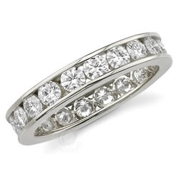 Style 9432: Channel Set Round Stone Anniversary Band