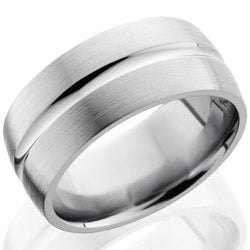 Style 103502: Titanium 10mm Domed Band with Concave Center