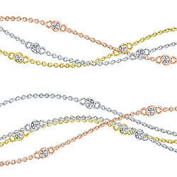Style 101998: Diamonds By The Yard Necklace