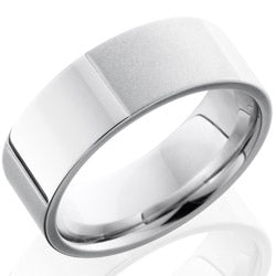 Style 103734: Cobalt Chrome 8mm Flat Band with Segmented Pattern
