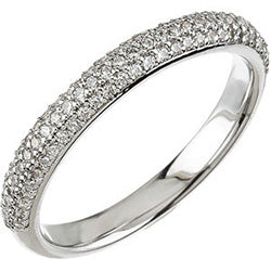Style 102282WB: Three Row Round Diamond Wedding Band