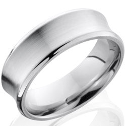 Style 103669: Cobalt Chrome 7mm Concave, Beveled Band