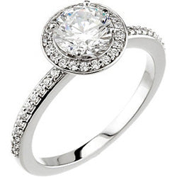 Style 102288-6.5mm: Round Halo Engagement Ring With Diamonds