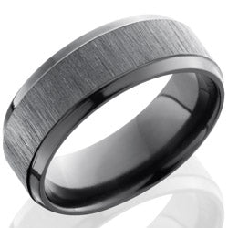 Style 103884: Zirconium 8mm Beveled Band