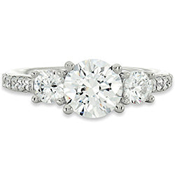 Style 102249-7mm: Round Three Stone Ring With Diamond Side Stones