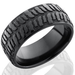 Style 103937: Zirconium 9mm Domed Band with Bogger Pattern