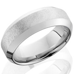 Style 103772: Cobalt Chrome 8mm wide high bevel band