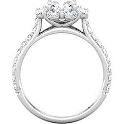 Style 102246-7.5mm: Round Halo Engagement Ring With Diamonds