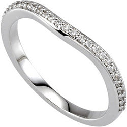Style 102283WB: Prong Set Round Diamond Wedding Band