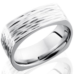 Style 103758: Cobalt Chrome 8mm Flat, Square Band