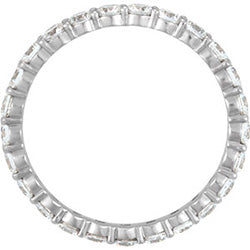 Style 102268: Shared Prong Anniversary Band With 2.5mm Round Diamonds