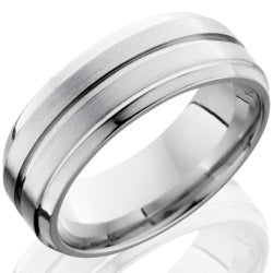 Style 103693: Cobalt Chrome 8mm Beveled Band