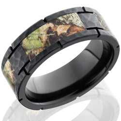 Style 103956: Zirconium 8mm Flat Segmented Band with MossyOak Camo