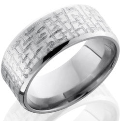 Style 103579: Titanium 9mm Beveled Band
