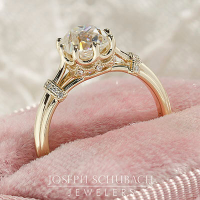 Style 103372: The Versailles Engagement Ring for Cushion Center Stone