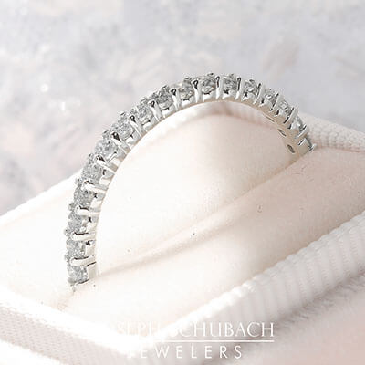 Style 102269: Shared Prong Eternity Band With 1.7mm Round Diamonds
