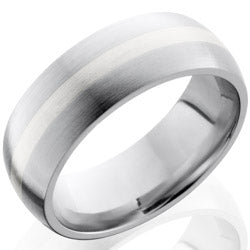 Style 103718: Cobalt Chrome 8mm Domed Band with 2mm SS