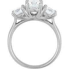 Style 102258: Three Stone Round Diamond Ring