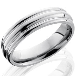 Style 103520: Titanium 6mm Domed Band with Rounded Edges