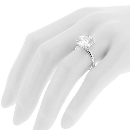 Scottsdale Solitaire Engagement Ring with a Double Four Prong Head as Worn