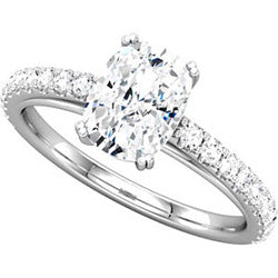 Style 102243: Radiant Shaped Engagement Ring With Diamonds