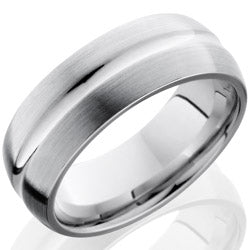 Style 103724: Cobalt Chrome 8mm Domed Band with Concave Center